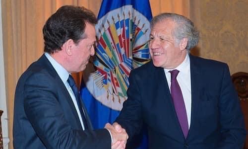 Ito Bisonó presidente del CAPP felicita a Luis Almagro por reelección en OEA